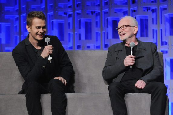 ORLANDO, FL - APRIL 13: Hayden Christensen and Ian McDiarmid attend the 40 YEARS OF STAR WARS PANEL during the 2017 STAR WARS CELEBRATION at Orange County Convention Center on April 13, 2017 in Orlando, Florida. (Photo by Gerardo Mora/Getty Images for Disney) *** Local Caption *** Hayden Christensen, Ian McDiarmid
