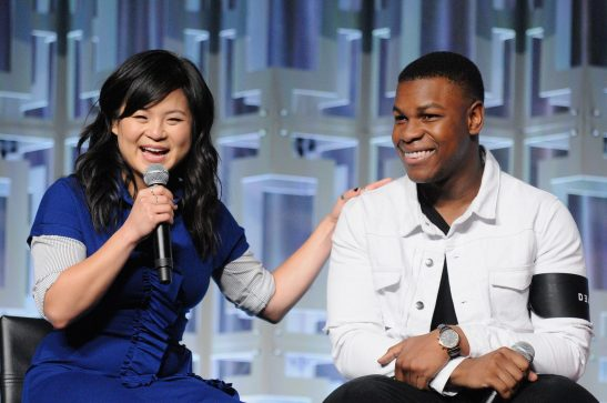 ORLANDO, FL - APRIL 14: Kelly Marie Tran and John Boyega attend the STAR WARS: THE LAST JEDI PANEL during the 2017 STAR WARS CELEBRATION at Orange County Convention Center on April 14, 2017 in Orlando, Florida. (Photo by Gerardo Mora/Getty Images for Disney) *** Local Caption *** Kelly Marie Tran, John Boyega