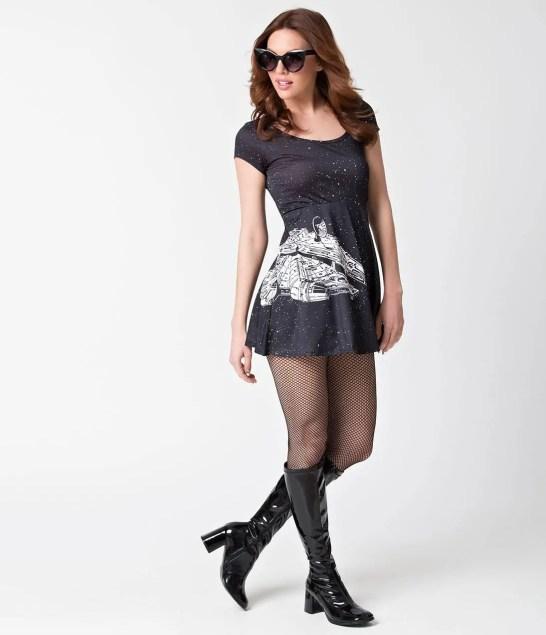Black_White_Star_Wars_Millennium_Falcon_Skater_Dress_2