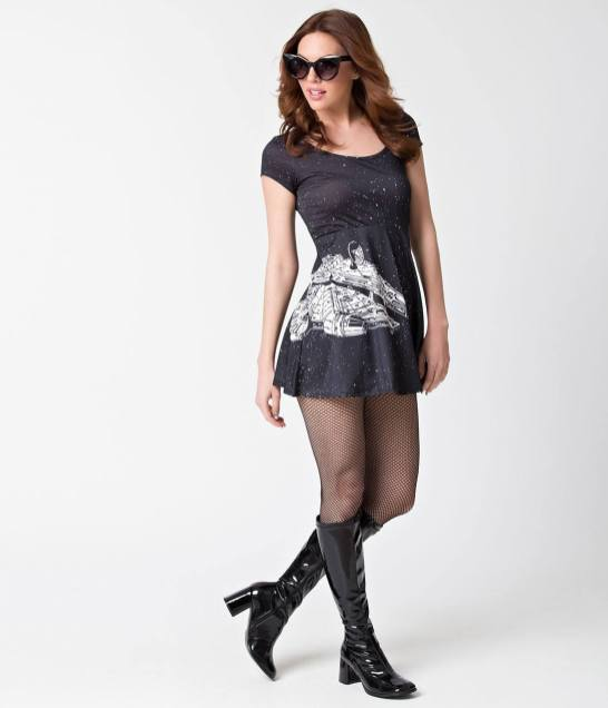 Black_White_Star_Wars_Millennium_Falcon_Skater_Dress_2