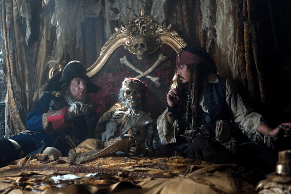 Johnny Depp Brings Captain Jack Sparrow to Life Aboard Disneyland's Pirates of the Caribbean