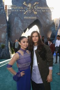 """HOLLYWOOD, CA - MAY 18: Actors Lana Condor (L) and Anthony De La Torreat the Premiere of Disney's and Jerry Bruckheimer Films' """"Pirates of the Caribbean: Dead Men Tell No Tales,"""" at the Dolby Theatre in Hollywood, CA with Johnny Depp as the one-and-only Captain Jack in a rollicking new tale of the high seas infused with the elements of fantasy, humor and action that have resulted in an international phenomenon for the past 13 years. May 18, 2017 in Hollywood, California. (Photo by Jesse Grant/Getty Images for Disney) *** Local Caption *** Lana Condor; Anthony De La Torre"""