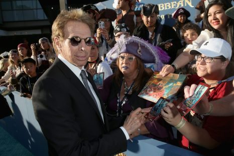 """HOLLYWOOD, CA - MAY 18: Producer Jerry Bruckheimer at the Premiere of Disney's and Jerry Bruckheimer Films' """"Pirates of the Caribbean: Dead Men Tell No Tales,"""" at the Dolby Theatre in Hollywood, CA with Johnny Depp as the one-and-only Captain Jack in a rollicking new tale of the high seas infused with the elements of fantasy, humor and action that have resulted in an international phenomenon for the past 13 years. May 18, 2017 in Hollywood, California. (Photo by Jesse Grant/Getty Images for Disney) *** Local Caption *** Jerry Bruckheimer"""