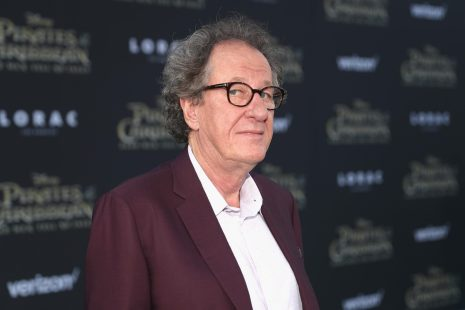 """HOLLYWOOD, CA - MAY 18: Actor Geoffrey Rush at the Premiere of Disney's and Jerry Bruckheimer Films' """"Pirates of the Caribbean: Dead Men Tell No Tales,"""" at the Dolby Theatre in Hollywood, CA with Johnny Depp as the one-and-only Captain Jack in a rollicking new tale of the high seas infused with the elements of fantasy, humor and action that have resulted in an international phenomenon for the past 13 years. May 18, 2017 in Hollywood, California. (Photo by Rich Polk/Getty Images for Disney) *** Local Caption *** Geoffrey Rush"""