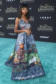 """HOLLYWOOD, CA - MAY 18: Actor Skai Jackson at the Premiere of Disney's and Jerry Bruckheimer Films' """"Pirates of the Caribbean: Dead Men Tell No Tales,"""" at the Dolby Theatre in Hollywood, CA with Johnny Depp as the one-and-only Captain Jack in a rollicking new tale of the high seas infused with the elements of fantasy, humor and action that have resulted in an international phenomenon for the past 13 years. May 18, 2017 in Hollywood, California. (Photo by Rich Polk/Getty Images for Disney) *** Local Caption *** Skai Jackson"""