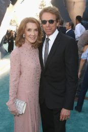 "HOLLYWOOD, CA - MAY 18: Linda Bruckheimer (L) and Producer Jerry Bruckheimer at the Premiere of Disney's and Jerry Bruckheimer Films' ""Pirates of the Caribbean: Dead Men Tell No Tales,"" at the Dolby Theatre in Hollywood, CA with Johnny Depp as the one-and-only Captain Jack in a rollicking new tale of the high seas infused with the elements of fantasy, humor and action that have resulted in an international phenomenon for the past 13 years. May 18, 2017 in Hollywood, California. (Photo by Jesse Grant/Getty Images for Disney) *** Local Caption *** Linda Bruckheimer; Jerry Bruckheimer"