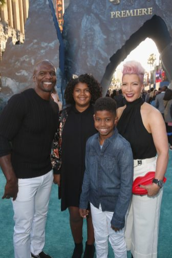"HOLLYWOOD, CA - MAY 18: Actor Terry Crews (L), Rebecca Crews (R) and guests at the Premiere of Disney's and Jerry Bruckheimer Films' ""Pirates of the Caribbean: Dead Men Tell No Tales,"" at the Dolby Theatre in Hollywood, CA with Johnny Depp as the one-and-only Captain Jack in a rollicking new tale of the high seas infused with the elements of fantasy, humor and action that have resulted in an international phenomenon for the past 13 years. May 18, 2017 in Hollywood, California. (Photo by Jesse Grant/Getty Images for Disney) *** Local Caption *** Terry Crews; Rebecca Crews"