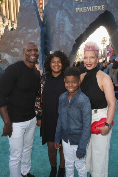 """HOLLYWOOD, CA - MAY 18: Actor Terry Crews (L), Rebecca Crews (R) and guests at the Premiere of Disney's and Jerry Bruckheimer Films' """"Pirates of the Caribbean: Dead Men Tell No Tales,"""" at the Dolby Theatre in Hollywood, CA with Johnny Depp as the one-and-only Captain Jack in a rollicking new tale of the high seas infused with the elements of fantasy, humor and action that have resulted in an international phenomenon for the past 13 years. May 18, 2017 in Hollywood, California. (Photo by Jesse Grant/Getty Images for Disney) *** Local Caption *** Terry Crews; Rebecca Crews"""