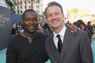 """HOLLYWOOD, CA - MAY 18: Actor David Oyelowo (L) and President of Walt Disney Studios Motion Picture Production, Sean Bailey at the Premiere of Disney's and Jerry Bruckheimer Films' """"Pirates of the Caribbean: Dead Men Tell No Tales,"""" at the Dolby Theatre in Hollywood, CA with Johnny Depp as the one-and-only Captain Jack in a rollicking new tale of the high seas infused with the elements of fantasy, humor and action that have resulted in an international phenomenon for the past 13 years. May 18, 2017 in Hollywood, California. (Photo by Jesse Grant/Getty Images for Disney) *** Local Caption *** David Oyelowo; Sean Bailey"""