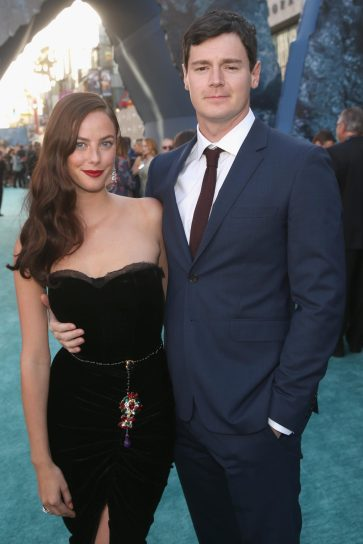 """HOLLYWOOD, CA - MAY 18: Actors Kaya Scodelario (L) and Benjamin Walker at the Premiere of Disney's and Jerry Bruckheimer Films' """"Pirates of the Caribbean: Dead Men Tell No Tales,"""" at the Dolby Theatre in Hollywood, CA with Johnny Depp as the one-and-only Captain Jack in a rollicking new tale of the high seas infused with the elements of fantasy, humor and action that have resulted in an international phenomenon for the past 13 years. May 18, 2017 in Hollywood, California. (Photo by Jesse Grant/Getty Images for Disney) *** Local Caption *** Kaya Scodelario; Benjamin Walker"""