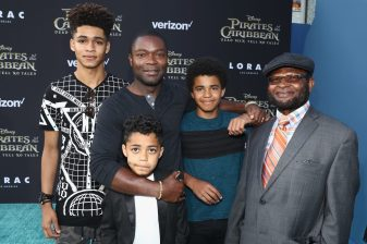 "HOLLYWOOD, CA - MAY 18: Actor David Oyelowo (2nd L) and family at the Premiere of Disney's and Jerry Bruckheimer Films' ""Pirates of the Caribbean: Dead Men Tell No Tales,"" at the Dolby Theatre in Hollywood, CA with Johnny Depp as the one-and-only Captain Jack in a rollicking new tale of the high seas infused with the elements of fantasy, humor and action that have resulted in an international phenomenon for the past 13 years. May 18, 2017 in Hollywood, California. (Photo by Rich Polk/Getty Images for Disney) *** Local Caption *** David Oyelowo"