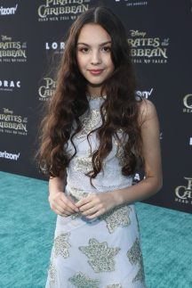 """HOLLYWOOD, CA - MAY 18: Singer Olivia Rodrigo at the Premiere of Disney's and Jerry Bruckheimer Films' """"Pirates of the Caribbean: Dead Men Tell No Tales,"""" at the Dolby Theatre in Hollywood, CA with Johnny Depp as the one-and-only Captain Jack in a rollicking new tale of the high seas infused with the elements of fantasy, humor and action that have resulted in an international phenomenon for the past 13 years. May 18, 2017 in Hollywood, California. (Photo by Rich Polk/Getty Images for Disney) *** Local Caption *** Olivia Rodrigo"""
