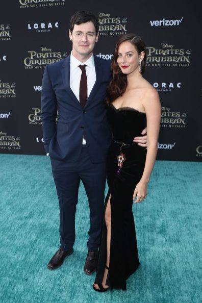 """HOLLYWOOD, CA - MAY 18: Actors Benjamin Walker (L) and Kaya Scodelario at the Premiere of Disney's and Jerry Bruckheimer Films' """"Pirates of the Caribbean: Dead Men Tell No Tales,"""" at the Dolby Theatre in Hollywood, CA with Johnny Depp as the one-and-only Captain Jack in a rollicking new tale of the high seas infused with the elements of fantasy, humor and action that have resulted in an international phenomenon for the past 13 years. May 18, 2017 in Hollywood, California. (Photo by Rich Polk/Getty Images for Disney) *** Local Caption *** Benjamin Walker; Kaya Scodelario"""