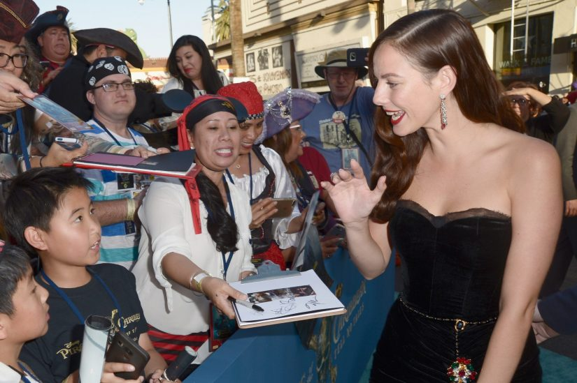 "HOLLYWOOD, CA - MAY 18: Actor Kaya Scodelario at the Premiere of Disney's and Jerry Bruckheimer Films' ""Pirates of the Caribbean: Dead Men Tell No Tales,"" at the Dolby Theatre in Hollywood, CA with Johnny Depp as the one-and-only Captain Jack in a rollicking new tale of the high seas infused with the elements of fantasy, humor and action that have resulted in an international phenomenon for the past 13 years. May 18, 2017 in Hollywood, California. (Photo by Marc Flores/Getty Images for Disney) *** Local Caption *** Kaya Scodelario"