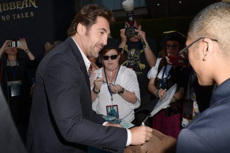 """HOLLYWOOD, CA - MAY 18: Actor Javier Bardem at the Premiere of Disney's and Jerry Bruckheimer Films' """"Pirates of the Caribbean: Dead Men Tell No Tales,"""" at the Dolby Theatre in Hollywood, CA with Johnny Depp as the one-and-only Captain Jack in a rollicking new tale of the high seas infused with the elements of fantasy, humor and action that have resulted in an international phenomenon for the past 13 years. May 18, 2017 in Hollywood, California. (Photo by Marc Flores/Getty Images for Disney) *** Local Caption *** Javier Bardem"""