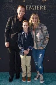 """HOLLYWOOD, CA - MAY 18: (L-R) David Sanov, Benjamin Sanov and actor Alison Sweeney at the Premiere of Disney's and Jerry Bruckheimer Films' """"Pirates of the Caribbean: Dead Men Tell No Tales,"""" at the Dolby Theatre in Hollywood, CA with Johnny Depp as the one-and-only Captain Jack in a rollicking new tale of the high seas infused with the elements of fantasy, humor and action that have resulted in an international phenomenon for the past 13 years. May 18, 2017 in Hollywood, California. (Photo by Marc Flores/Getty Images for Disney) *** Local Caption *** David Sanov; Benjamin Sanov; Alison Sweeney"""