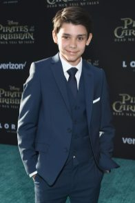 """HOLLYWOOD, CA - MAY 18: Actor Lewis McGowan at the Premiere of Disney's and Jerry Bruckheimer Films' """"Pirates of the Caribbean: Dead Men Tell No Tales,"""" at the Dolby Theatre in Hollywood, CA with Johnny Depp as the one-and-only Captain Jack in a rollicking new tale of the high seas infused with the elements of fantasy, humor and action that have resulted in an international phenomenon for the past 13 years. May 18, 2017 in Hollywood, California. (Photo by Rich Polk/Getty Images for Disney) *** Local Caption *** Lewis McGowan"""