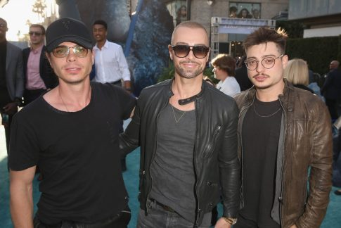 "HOLLYWOOD, CA - MAY 18: (L-R) Actors Matthew Lawrence, Joey Lawrence and Andrew Lawrence at the Premiere of Disney's and Jerry Bruckheimer Films' ""Pirates of the Caribbean: Dead Men Tell No Tales,"" at the Dolby Theatre in Hollywood, CA with Johnny Depp as the one-and-only Captain Jack in a rollicking new tale of the high seas infused with the elements of fantasy, humor and action that have resulted in an international phenomenon for the past 13 years. May 18, 2017 in Hollywood, California. (Photo by Jesse Grant/Getty Images for Disney) *** Local Caption *** Matthew Lawrence; Joey Lawrence; Andrew Lawrence"