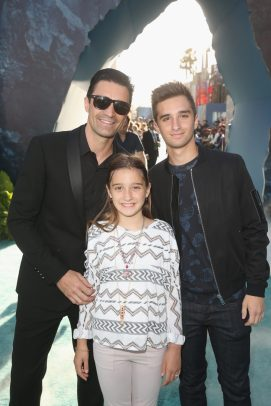 """HOLLYWOOD, CA - MAY 18: Actor Gilles Marini (L) and guests at the Premiere of Disney's and Jerry Bruckheimer Films' """"Pirates of the Caribbean: Dead Men Tell No Tales,"""" at the Dolby Theatre in Hollywood, CA with Johnny Depp as the one-and-only Captain Jack in a rollicking new tale of the high seas infused with the elements of fantasy, humor and action that have resulted in an international phenomenon for the past 13 years. May 18, 2017 in Hollywood, California. (Photo by Jesse Grant/Getty Images for Disney) *** Local Caption *** Gilles Marini"""