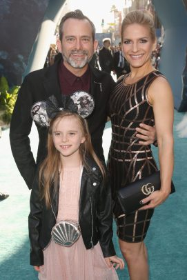 "HOLLYWOOD, CA - MAY 18: Composer Geoff Zanelli (L) and family at the Premiere of Disney's and Jerry Bruckheimer Films' ""Pirates of the Caribbean: Dead Men Tell No Tales,"" at the Dolby Theatre in Hollywood, CA with Johnny Depp as the one-and-only Captain Jack in a rollicking new tale of the high seas infused with the elements of fantasy, humor and action that have resulted in an international phenomenon for the past 13 years. May 18, 2017 in Hollywood, California. (Photo by Jesse Grant/Getty Images for Disney) *** Local Caption *** Geoff Zanelli"