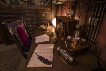 "Guardians of the Galaxy–Mission: BREAKOUT! — Guests on Terra (Earth) will find hundreds of artifacts decorating the private office of The Collector, Tivan Tanaleer, featuring objects gathered from around the galaxy. Guests of Disney California Adventure Park can view this as part of the Guardians of the Galaxy – Mission: BREAKOUT! attraction. The epic new adventure blasts guests straight into the ""Guardians of the Galaxy"" story for the first time, alongside characters from the blockbuster films and comics. (Joshua Sudock/Disneyland Resort)"