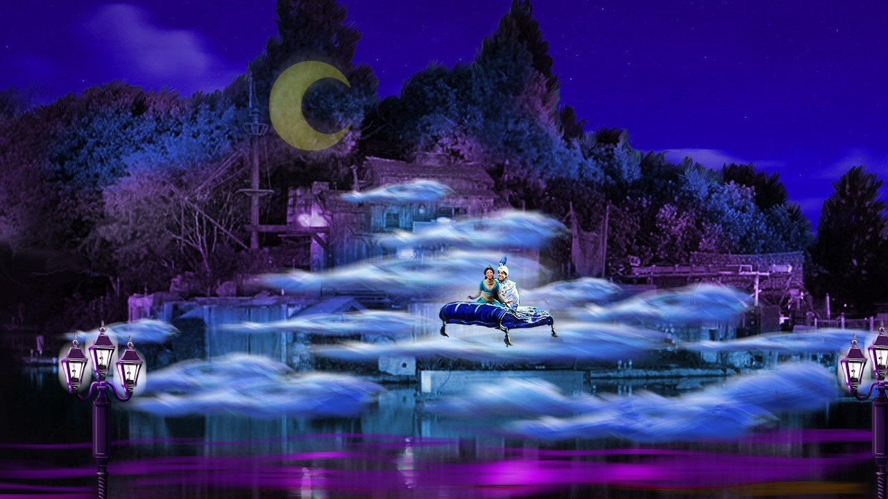 Disneyland's Fantasmic! with Aladdin and Jasmine