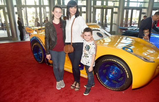 "ANAHEIM, CA - JUNE 10: (L-R) Gemma Beason, actor Catherine Bell, and Ronan Beason pose at the World Premiere of Disney/Pixarís ìCars 3"" at the Anaheim Convention Center on June 10, 2017 in Anaheim, California. (Photo by Alberto E. Rodriguez/Getty Images for Disney) *** Local Caption *** Gemma Beason,Catherine Bell,Ronan Beason"