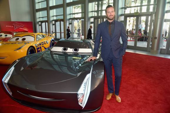 """ANAHEIM, CA - JUNE 10: Actor Armie Hammer poses at the World Premiere of Disney/Pixarís ìCars 3"""" at the Anaheim Convention Center on June 10, 2017 in Anaheim, California. (Photo by Alberto E. Rodriguez/Getty Images for Disney) *** Local Caption *** Armie Hammer"""