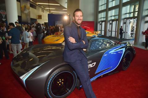 "ANAHEIM, CA - JUNE 10: Actor Armie Hammer poses at the World Premiere of Disney/Pixarís ìCars 3"" at the Anaheim Convention Center on June 10, 2017 in Anaheim, California. (Photo by Alberto E. Rodriguez/Getty Images for Disney) *** Local Caption *** Armie Hammer"