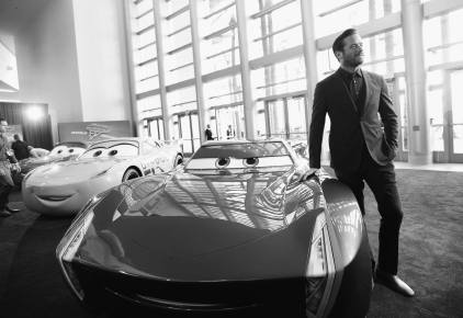 """ANAHEIM, CA - JUNE 10: (EDITORS NOTE: Image has been shot in black and white) Actor Armie Hammer at the World Premiere of Disney/Pixarís ìCars 3"""" at the Anaheim Convention Center on June 10, 2017 in Anaheim, California. (Photo by Charley Gallay/Getty Images for Disney) *** Local Caption *** Armie Hammer"""