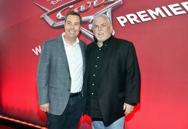 "ANAHEIM, CA - JUNE 10: Director Brian Fee (L) and actor John Ratzenberger at the World Premiere of Disney/Pixarís ìCars 3"" at the Anaheim Convention Center on June 10, 2017 in Anaheim, California. (Photo by Alberto E. Rodriguez/Getty Images for Disney) *** Local Caption *** Brian Fee;John Ratzenberger"
