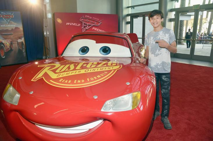 """ANAHEIM, CA - JUNE 10: Actor Ian Chen at the World Premiere of Disney/Pixarís ìCars 3"""" at the Anaheim Convention Center on June 10, 2017 in Anaheim, California. (Photo by Alberto E. Rodriguez/Getty Images for Disney) *** Local Caption *** Ian Chen"""