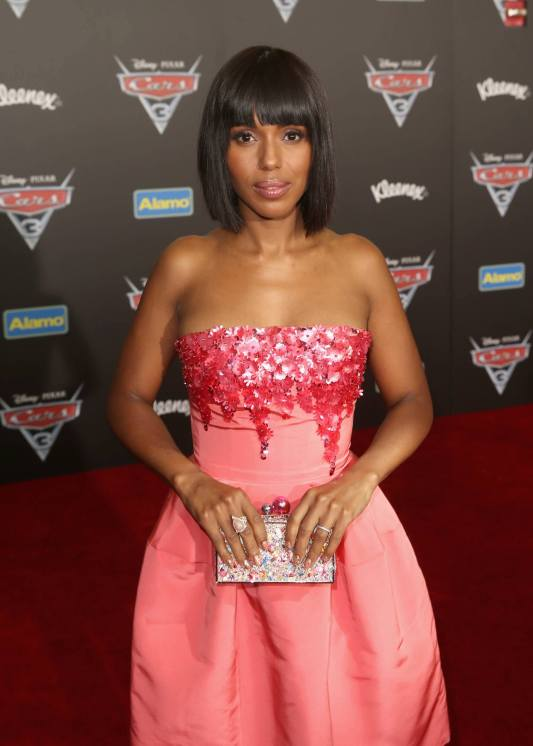 """ANAHEIM, CA - JUNE 10: Actor Kerry Washington poses at the World Premiere of Disney/Pixarís ìCars 3"""" at the Anaheim Convention Center on June 10, 2017 in Anaheim, California. (Photo by Jesse Grant/Getty Images for Disney) *** Local Caption *** Kerry Washington"""