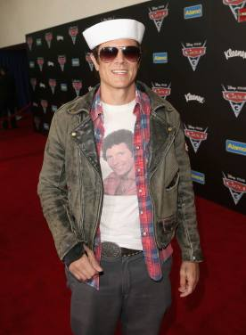 """ANAHEIM, CA - JUNE 10: Actor Johnny Knoxville poses at the World Premiere of Disney/Pixarís ìCars 3"""" at the Anaheim Convention Center on June 10, 2017 in Anaheim, California. (Photo by Jesse Grant/Getty Images for Disney) *** Local Caption *** Johnny Knoxville"""