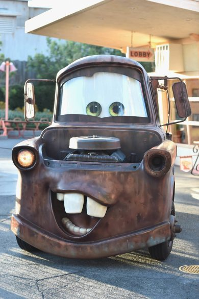 "ANAHEIM, CA - JUNE 10: A view of a ""Mater"" character display at the after party for the World Premiere of Disney/Pixarís ìCars 3î at Cars Land at Disney California Adventure in Anaheim, CA. (Photo by Alberto E. Rodriguez/Getty Images for Disney)"