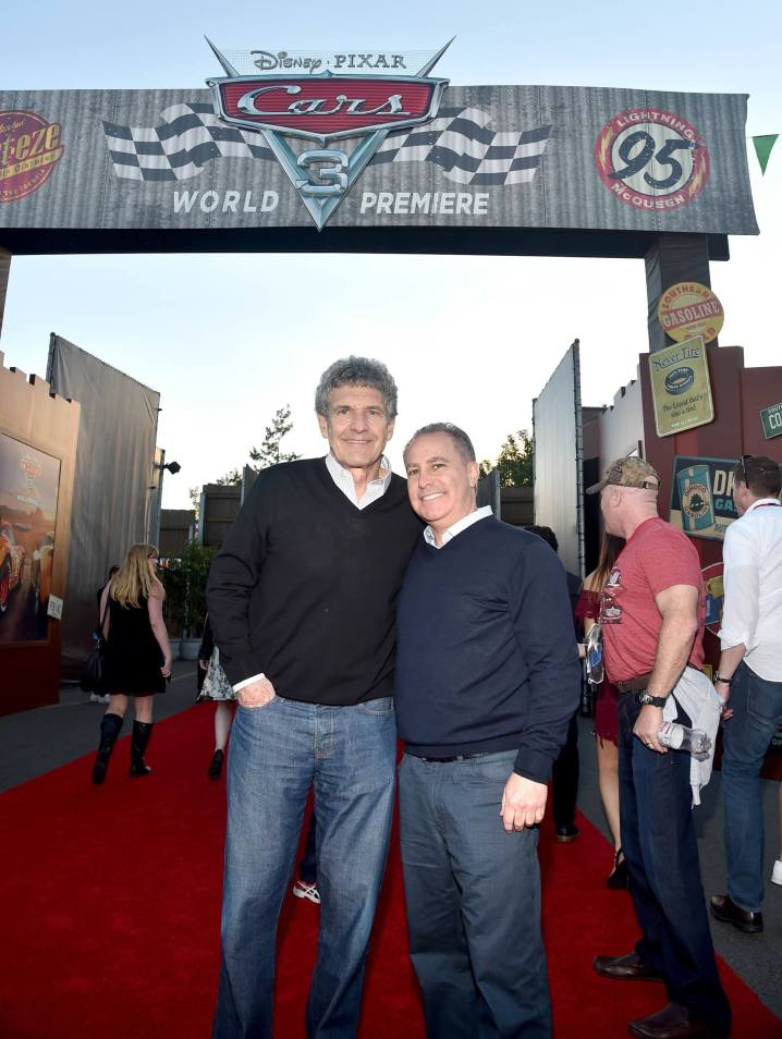 ANAHEIM, CA - JUNE 10: Chairman, The Walt Disney Studios, Alan Horn (L) and Walt Disney Studios President Alan Bergman at the after party for the World Premiere of Disney/Pixarís ìCars 3î at Cars Land at Disney California Adventure in Anaheim, CA. (Photo by Alberto E. Rodriguez/Getty Images for Disney) *** Local Caption *** Alan Horn;Alan Bergman