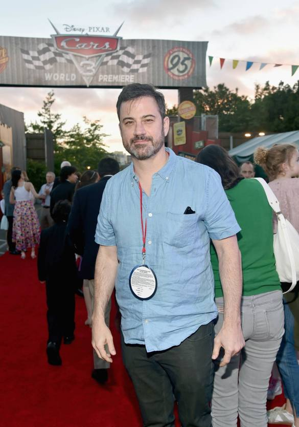 ANAHEIM, CA - JUNE 10: TV personality Jimmy Kimmel poses at the after party for the World Premiere of Disney/Pixarís ìCars 3î at Cars Land at Disney California Adventure in Anaheim, CA. (Photo by Alberto E. Rodriguez/Getty Images for Disney) *** Local Caption *** Jimmy Kimmel