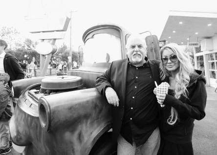 ANAHEIM, CA - JUNE 10: Actor John Ratzenberger (L) and Julie Blichfeldt at the after party for the World Premiere of Disney/Pixarís ìCars 3î at Cars Land at Disney California Adventure in Anaheim, CA. (Photo by Charley Gallay/Getty Images for Disney) *** Local Caption *** John Ratzenberger;Julie Blichfeldt