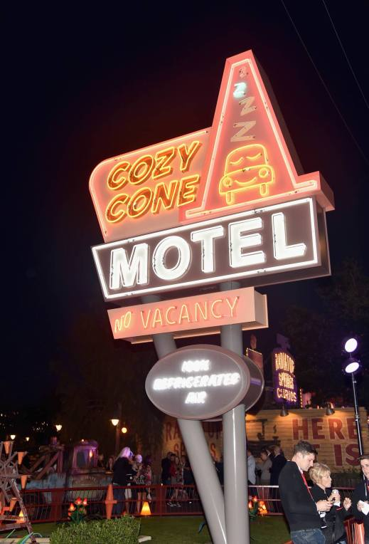 ANAHEIM, CA - JUNE 10: A view of the Cozy Cone Motel at the after party for the World Premiere of Disney/Pixarís ìCars 3î at Cars Land at Disney California Adventure in Anaheim, CA. (Photo by Alberto E. Rodriguez/Getty Images for Disney)