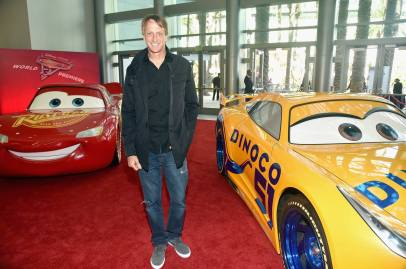 "ANAHEIM, CA - JUNE 10: Professional skateboarder Tony Hawk poses at the World Premiere of Disney/Pixarís ìCars 3"" at the Anaheim Convention Center on June 10, 2017 in Anaheim, California. (Photo by Alberto E. Rodriguez/Getty Images for Disney) *** Local Caption *** Tony Hawk"