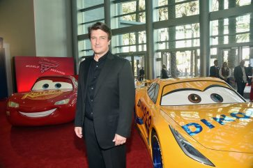 """ANAHEIM, CA - JUNE 10: Actor Nathan Fillion poses at the World Premiere of Disney/Pixarís ìCars 3"""" at the Anaheim Convention Center on June 10, 2017 in Anaheim, California. (Photo by Alberto E. Rodriguez/Getty Images for Disney) *** Local Caption *** Nathan Fillion"""