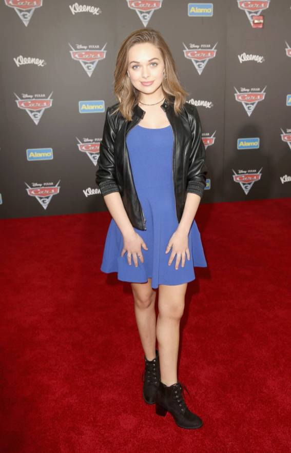 """ANAHEIM, CA - JUNE 10: Actor Alyssa Jirrels poses at the World Premiere of Disney/Pixarís ìCars 3"""" at the Anaheim Convention Center on June 10, 2017 in Anaheim, California. (Photo by Jesse Grant/Getty Images for Disney) *** Local Caption *** Alyssa Jirrels"""