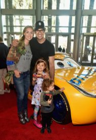 "ANAHEIM, CA - JUNE 10: (L-R) Heidi Balvanera, Elena Camil, actor Jaime Camil, and Jaime Camil II pose at the World Premiere of Disney/Pixarís ìCars 3"" at the Anaheim Convention Center on June 10, 2017 in Anaheim, California. (Photo by Alberto E. Rodriguez/Getty Images for Disney) *** Local Caption *** Jaime Camil;Elena Camil;Heidi Balvanera;Jaime Camil III"