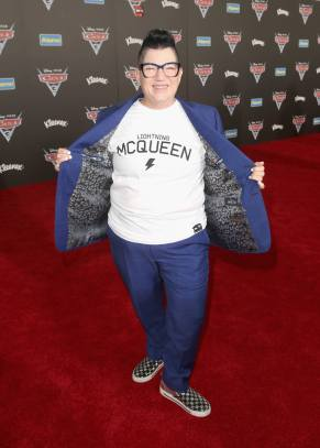"ANAHEIM, CA - JUNE 10: Actor Lea DeLaria poses at the World Premiere of Disney/Pixarís ìCars 3"" at the Anaheim Convention Center on June 10, 2017 in Anaheim, California. (Photo by Jesse Grant/Getty Images for Disney) *** Local Caption *** Lea DeLaria"