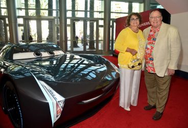 """ANAHEIM, CA - JUNE 10: Nancy Lasseter (L) and executive producer John Lasseter at the World Premiere of Disney/Pixarís ìCars 3"""" at the Anaheim Convention Center on June 10, 2017 in Anaheim, California. (Photo by Alberto E. Rodriguez/Getty Images for Disney) *** Local Caption *** Nancy Lasseter;John Lasseter"""