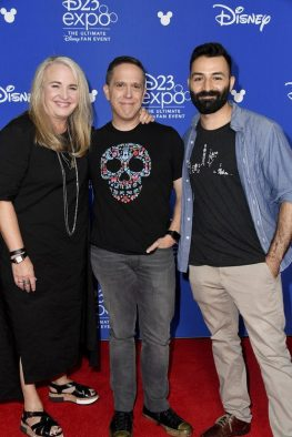 D23 EXPO 2017 - Friday, July 14, 2017 - The Ultimate Disney Fan Event - brings together all the worlds of Disney under one roof for three packed days of presentations, pavilions, experiences, concerts, sneak peeks, shopping, and more. The event, which takes place July 14-16 at the Anaheim Convention Center, provides fans with unprecedented access to Disney films, television, games, theme parks, and celebrities. (Disney/Image Group LA) DARLA K. ANDERSON, LEE UNKRICH, ADRIAN MOLINA