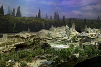 STAR WARS-THEMED LAND MODEL AT D23 EXPOÊÑÊThe epic, fully detailed model of theÊStar Wars-themed lands under development at Disneyland park in Anaheim, Calif. and DisneyÕs Hollywood Studios in Orlando, Fla. remains on display in Walt Disney Parks and ResortsÕ 'A Galaxy of Stories' pavilion throughout D23 Expo at the AnaheimÊConvention Center.ÊThe stunning exhibition gives D23 Expo guestsÊan up-close look at whatÕs to come on this never-before seen planet.Ê(Joshua Sudock/Disney Parks)