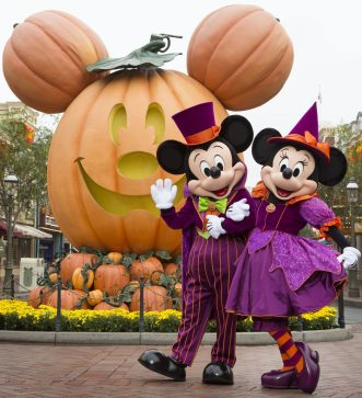 MICKEY MOUSE AND MINNIE MOUSE CELEBRATE HALLOWEEN TIME (ANAHEIM, Calif.) –– During Halloween Time at the Disneyland Resort, guests will encounter beloved characters dressed in fun seasonal costumes, including Mickey Mouse and Minnie Mouse. The Halloween season at the Disneyland Resort, which also features special attractions and entertainment, runs from Sept. 15 through Oct. 31, 2017. (Scott Brinegar/Disneyland Resort)