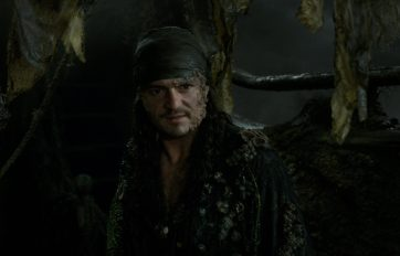 """""""PIRATES OF THE CARIBBEAN: DEAD MEN TELL NO TALES""""..The villainous Captain Salazar (Javier Bardem) pursues Jack Sparrow (Johnny Depp) as he searches for the trident used by Poseidon..Pictured: Orlando Bloom (Will Turner)..Film Frame..© Disney Enterprises, Inc. All Rights Reserved."""