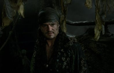 """PIRATES OF THE CARIBBEAN: DEAD MEN TELL NO TALES""..The villainous Captain Salazar (Javier Bardem) pursues Jack Sparrow (Johnny Depp) as he searches for the trident used by Poseidon..Pictured: Orlando Bloom (Will Turner)..Film Frame..© Disney Enterprises, Inc. All Rights Reserved."